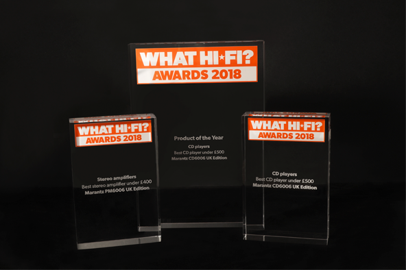 MARANTZ AWARD WINNERS AT THIS YEAR'S WHAT HI-FI? AWARDS